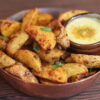 Smoky Potato Wedges with Turmeric Ginger Dipping Sauce