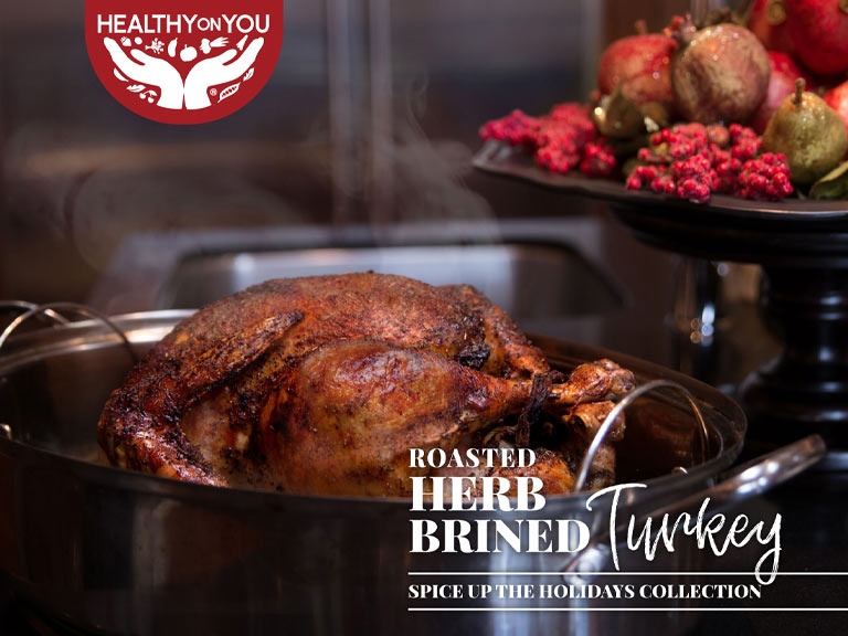 Roasted herb brined turkey recipe