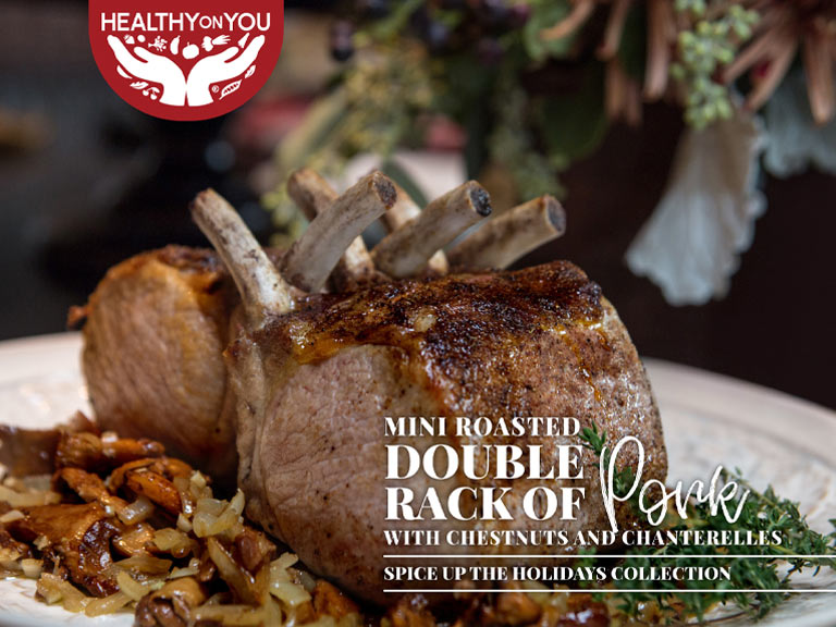 Roasted double rack pork recipe