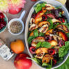 Grilled Stone Fruit Salad with Za'atar Dressing