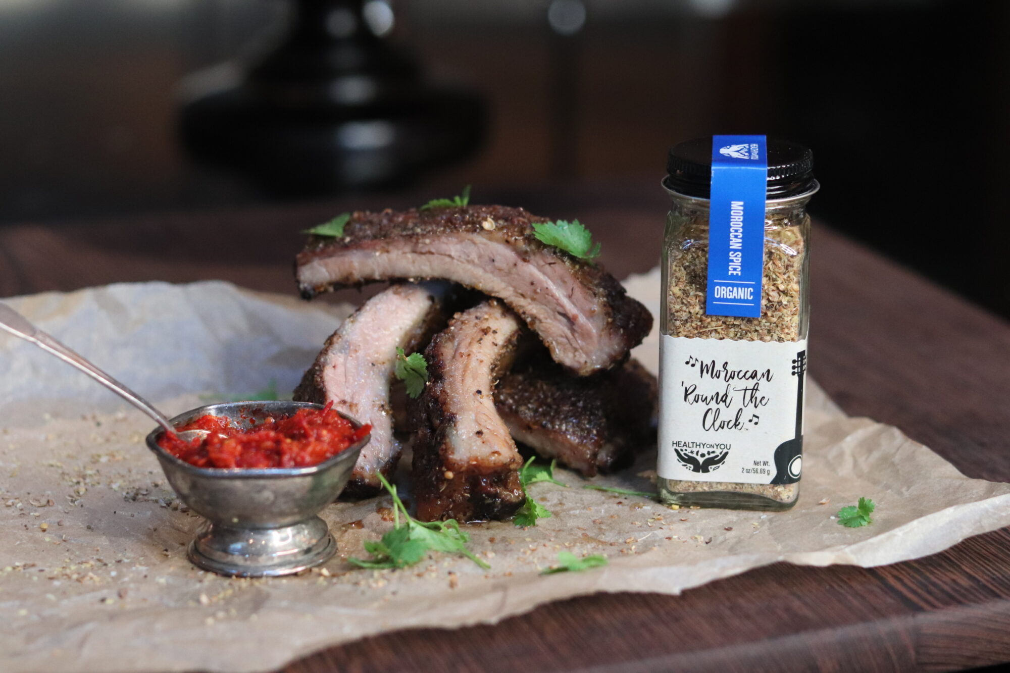 Honey Moroccan Spiced Ribs